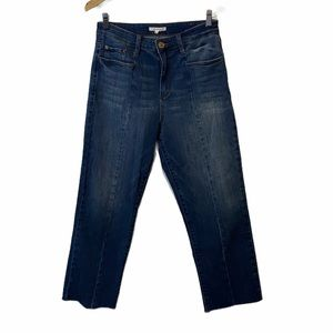 STS Blue raw hem cropped wide leg Jeans
